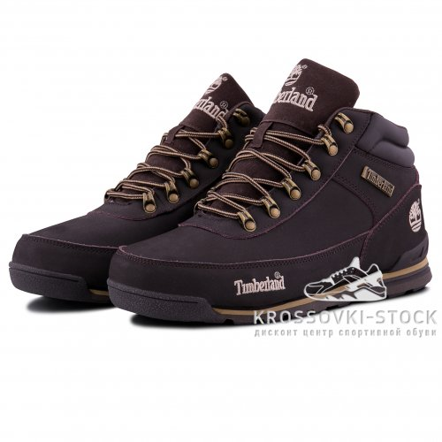 Мужские Timberland Earthkeepers Euro Rock Hiker Dark Brown With Fur