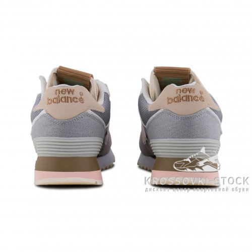 Женские New Balance 574 Grey/Peach