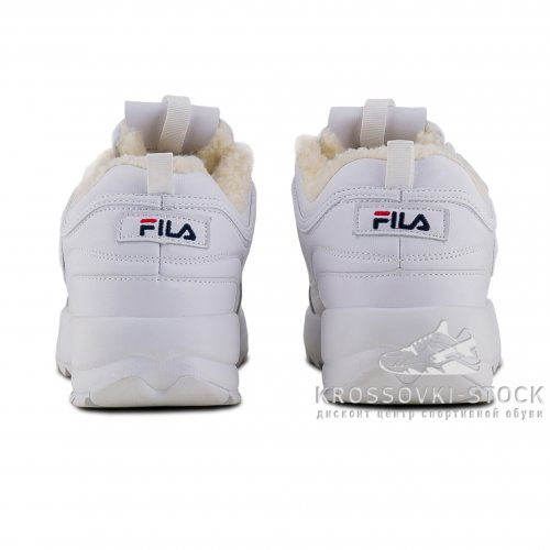 Зимние Fila Disruptor 2 White With Fur