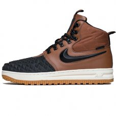 Зимние Nike Lunar Force 1 Duckboot Brown/Black With Fur