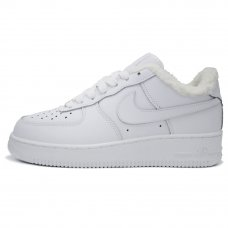 Фотография 1 Зимние Nike Air Force 1 Low White With Fur