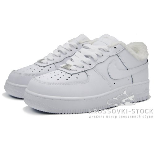 Зимние Nike Air Force 1 Low White With Fur