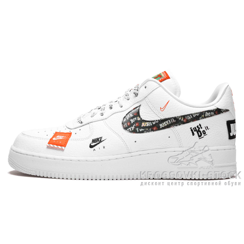 Фотография 1 Унисекс Nike Air Force 1 07 White Black Total Orange