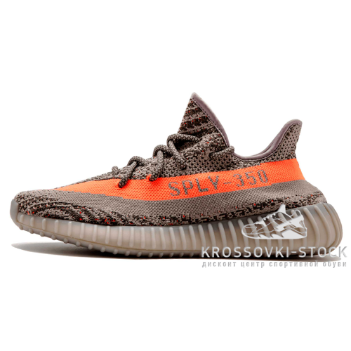 Фотография 1 Унисекс Adidas Originals Yeezy Boost Sply 350 V2 Stealth Grey Beluga Solar Red