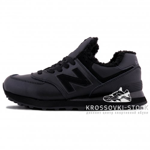 Фотография 1 Зимние New Balance 574 Dark Black With Fur