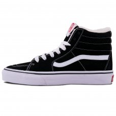 Зимние Vans Old Skool High Black/White With Fur