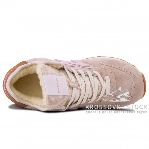 Зимние New Balance 574 High Beige With Fur